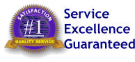 #1 QUALITY SERVICE Service Excellence Guaranteed